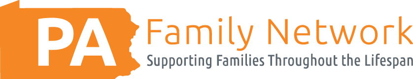 The PA Family Network Logo containing that language with a PA shaped logo